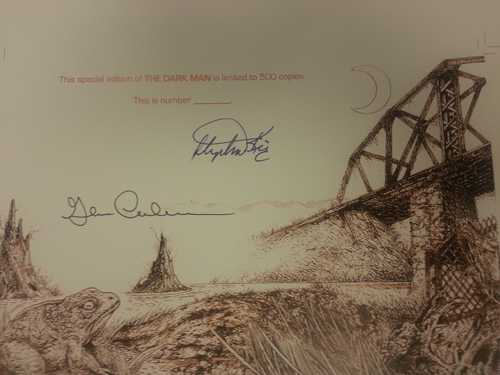 The Dark Man by Stephen King Limited Edition Signature Sheet