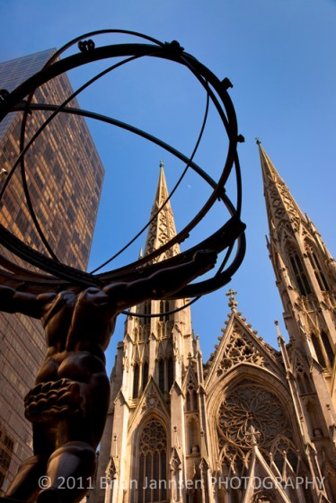 Atlas Statue St. Patricks Cathedral Manhattan New York City