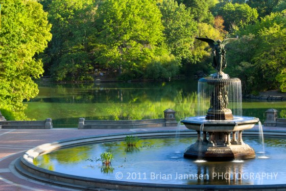 Central Park Angel Waters Fountain Manhattan New York City