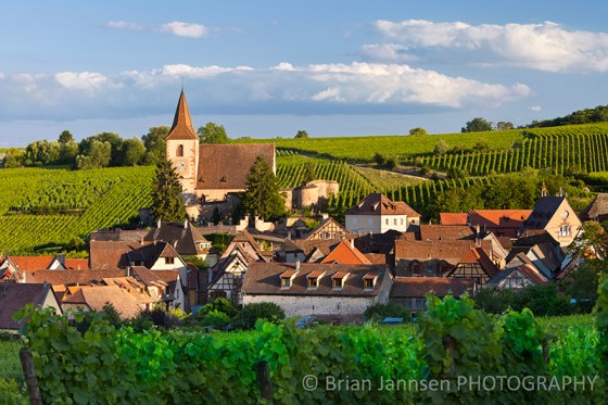 Hunawihr Alsace Wine Route Vineyards Town Village