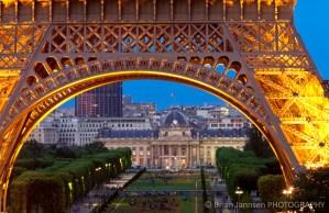 Eiffel Tower Ecole Militaire Paris France