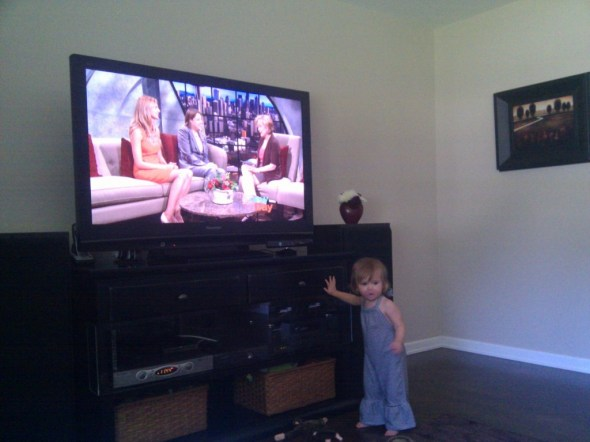 Cadence + Mommy on TV