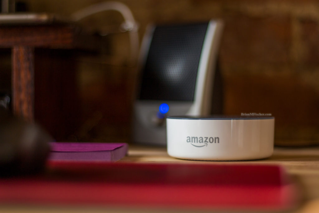 Amazon Alexa on Desk