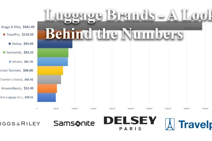 Luggage Brands - A Look Behind the Numbers