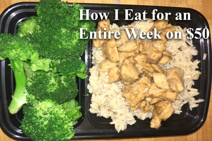 Here's How I Eat for an Entire Week on $50