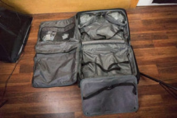 TravelPro Garment Bag Opened