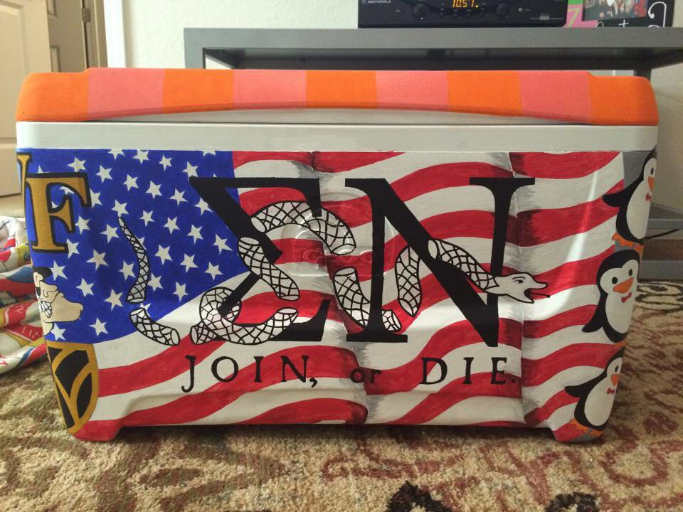 custom fraternity cooler