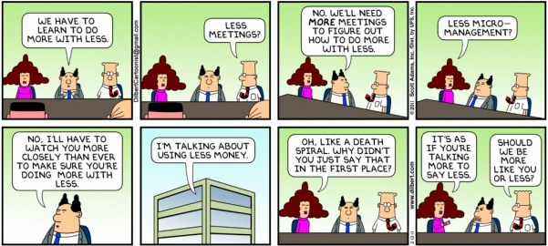 Do More with Less - Dilbert