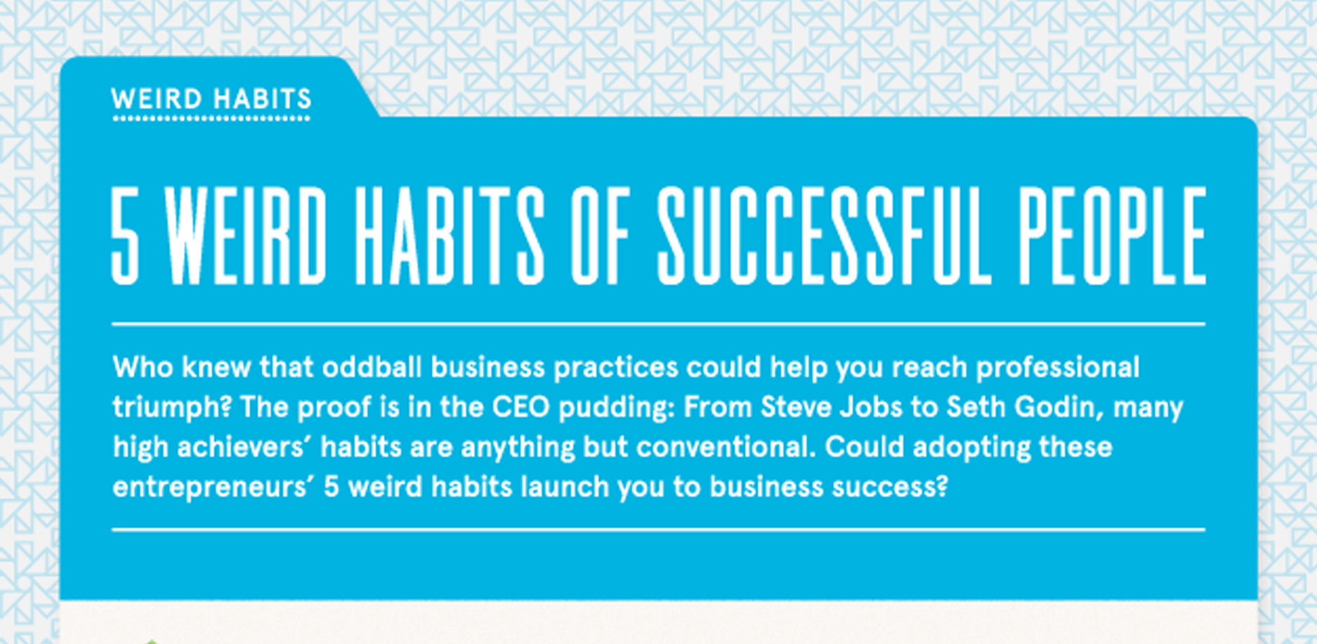 5 Weird Habits of Highly Successful People