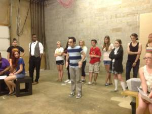 Brian M. Kehoe working with the cast of GHOST.