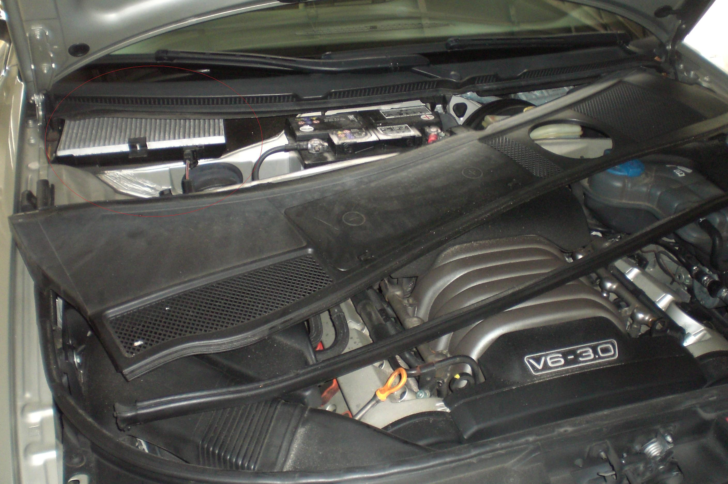 audi fuel filter location