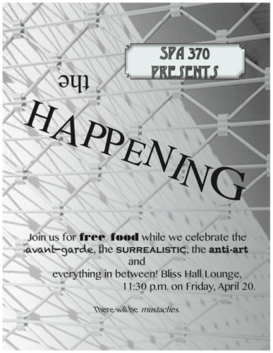 The Happening flyer
