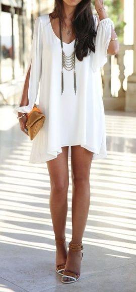 Tunic Dress, Necklace, Bag