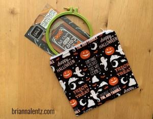10 inch Retro Halloween Project Bag