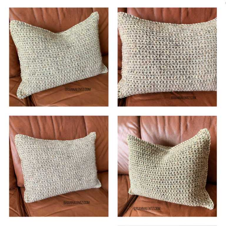Crochet Pillow Cover Collage Photo no text on it