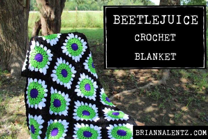 Beetlejuice Blanket – A Crochet Blanket Inspired By Tim Burton's Beetlejuice