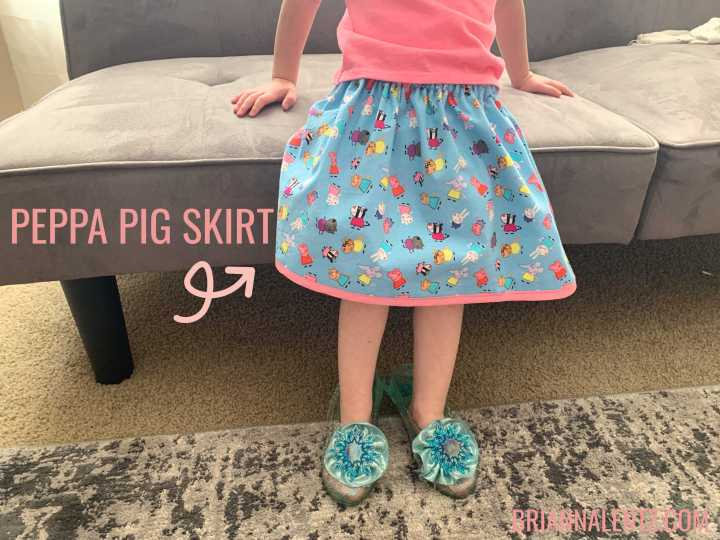 DIY Peppa Pig Skirt for My Little Girl