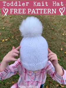 Toddler Knit Hat Julz 2019 1 PATTERN