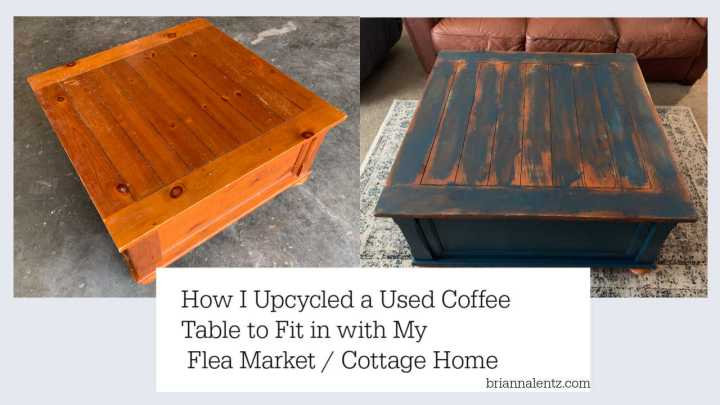 Upcycled Coffee Table to Fit in With A Flea Market and Cottage Decorated Home for Less Than $50 Total