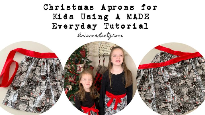 Christmas Aprons for Kids Using A MADE Everyday Tutorial
