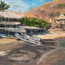 Playa Estacahuite, 16x20, Oil on linen - $800