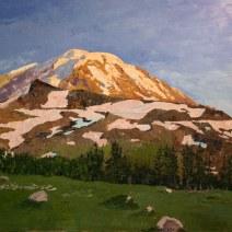 Mt. Ranier, 36x48, Oil on canvas - $1,850