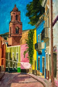 Guanajuato Callejon 2, 16x24, Oil on linen, $960