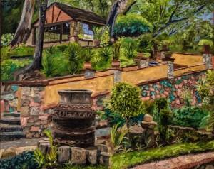 Garden House, 16x20, Oil on linen, $840