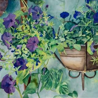 Del Hotel Las Golondrinas, Watercolor on paper, 22x30, $1,490
