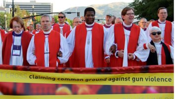 Bishops United Against Gun Violence, a group of more than 60 Episcopal bishops, sponsored a prayerful procession through the streets of Salt Lake City during General Convention in June.