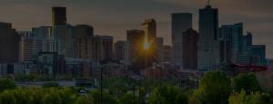 Downtown Denver at Sunrise