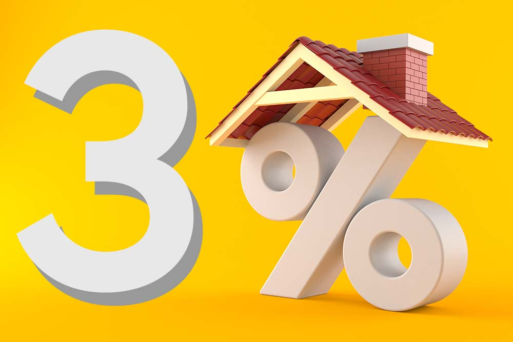 3 percent down payment is required for Conventional Loans.