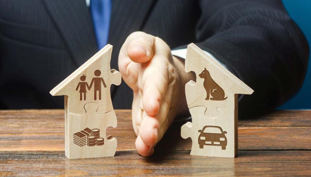 Splitting up assets during a divorce.