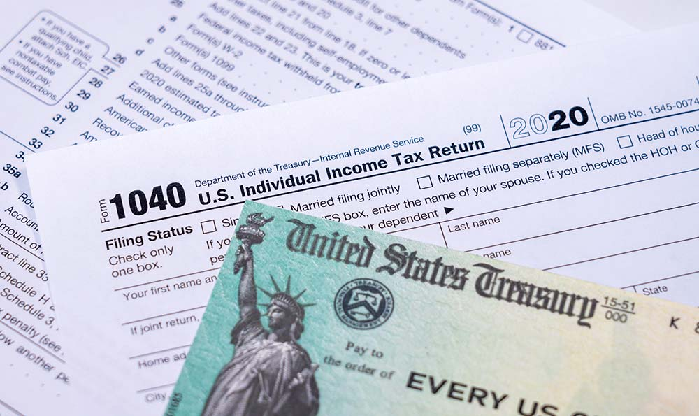 Tax returns and stimulus checks can be helpful if you want to improve your credit score.