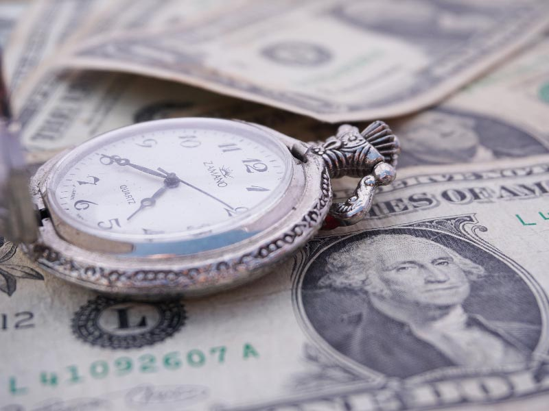 Cash and a stopwatch