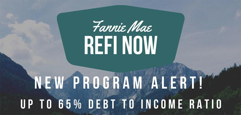 RefiNow Refinance Program from Fannie Mae