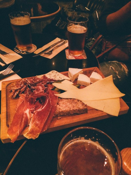 Delicious cold cuts and CHEESE, in France.
