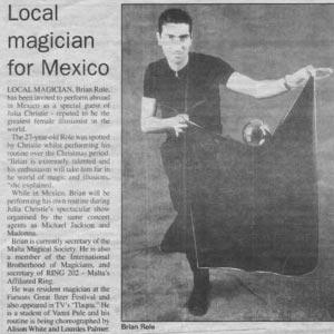 Magician Malta Magic performance in Mexico