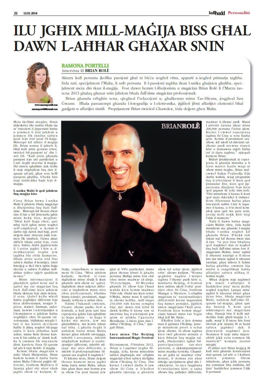 Ramona-Portelli---Intervista-Brian-Role-Magician---Magija-Kullhadd-12-01-2014