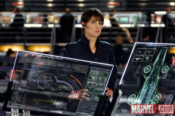 Maria Hill and the Helicarrier!