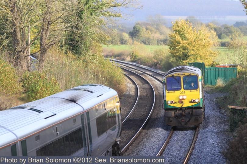 Irish Rail class 201 diesel and 22K ICRs.