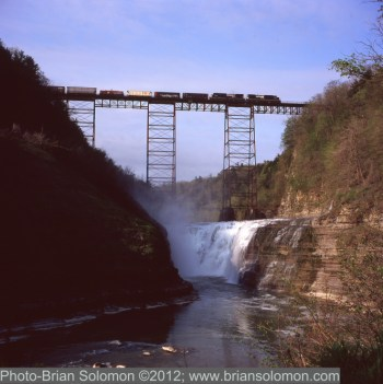 Railroad viaduct at Letchworth Gorge, New York