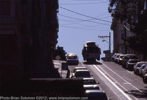 San Francisco cable car on Washington Street