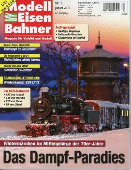 Cover of January 2013 ModellEisenbahner