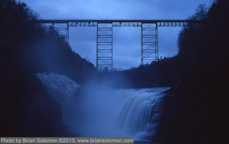Erie RR Portage Bridge Letchworth Gorge April 7 2013 Brian Solomon 087487