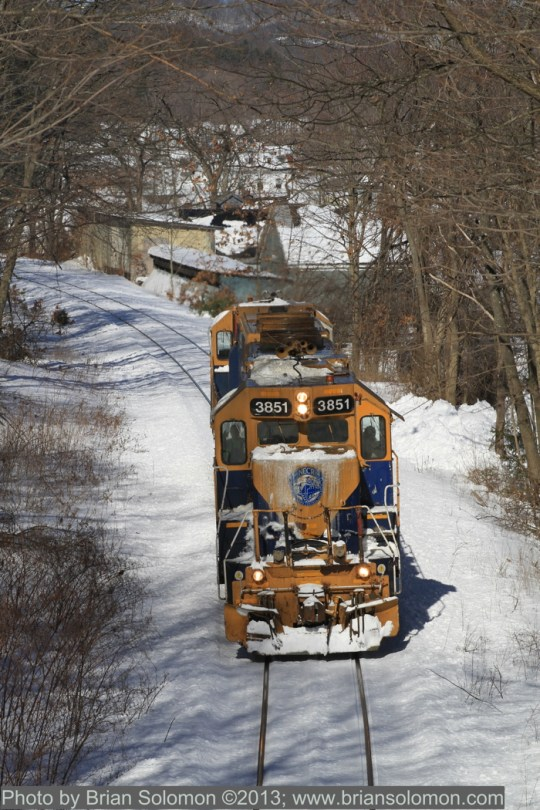 Railway locomotives in Monson, Massachusetts