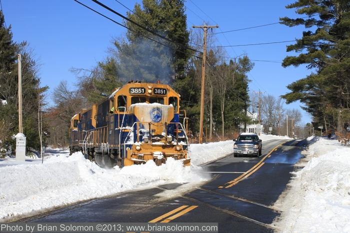New England Central GP38s in Palmer.