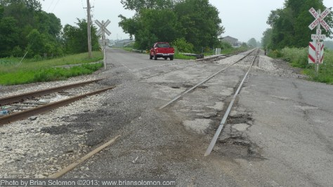 Former Erie Railroad mainline east of Kenton, Ohio.  West of the Pennsylvania-Ohio line, the former Erie route was fragmented following the creation of Conrail in 1976.