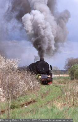 Steam Locomotive on disused track.