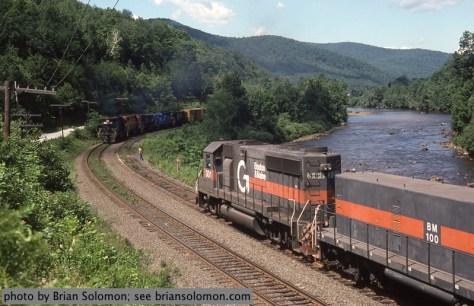 Boston & Maine railroad along the Deerfield River.